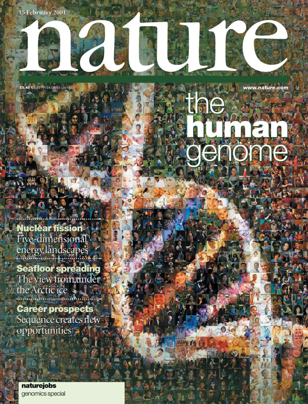Nature cover Human genome
